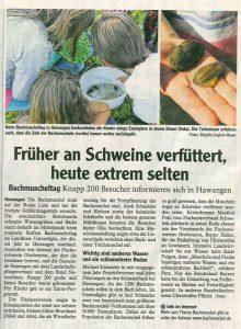 Bachmuscheltag 2015 (Mindelheimer Zeitung 18.9.)